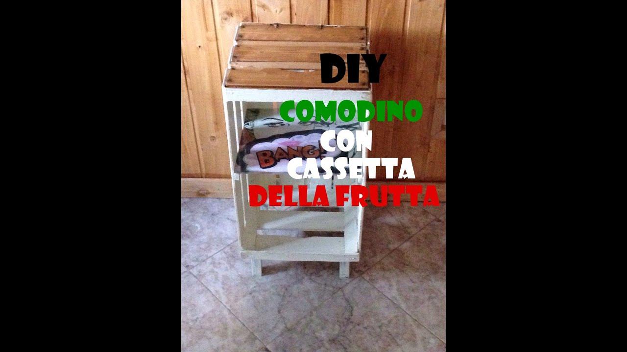 Fai Da Te Comodino Con Cassetta Della Frutta Diy Bedside Table