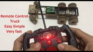 RC Homemade | How to make a Remote Control Heavy Truck  RC Car Steering and Back Wheels Installed