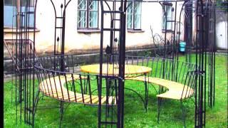 Садовая металлическая шатровая беседка шатер для дачи, конструкция, дизайн, цена, изготовление Днепр