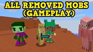 EVERY REMOVED Mob In Current Day Minecraft - It