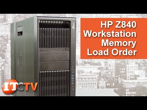 HP Z840 Workstation - Memory Configurations