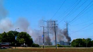 Brush Fire in Buffalo Grove IL.