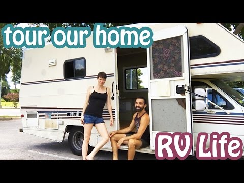 FULL RV TOUR || Minimalists Living in Tiny Mobile Home || Brittany + Conor