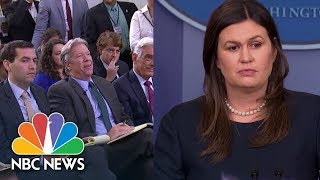 Sarah Sanders: Trump Tweet On Attorney General Jeff Sessions Is 'The President's Opinion' | NBC News