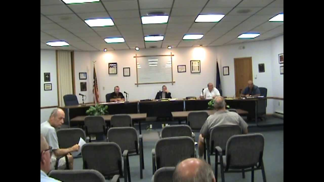 Rouses Point Village Board Meeting two  9-8-15