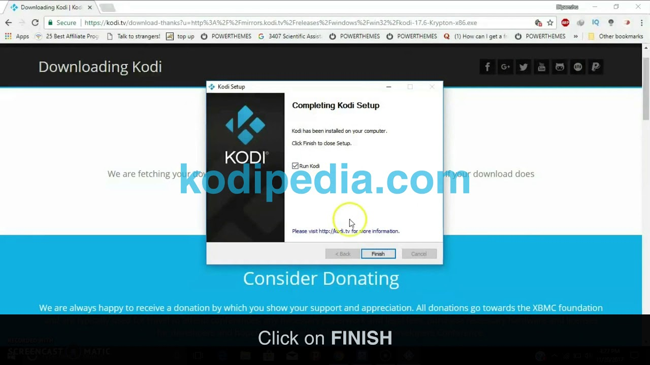 how to connect kodi to windowsn10 2018