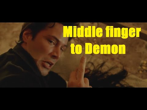 Constantine (2005) Shows Middle Finger To Demon SCENE HD   Keanu Reeves