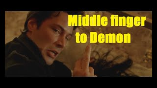Constantine (2005) Shows Middle Finger To Demon SCENE HD | Keanu Reeves