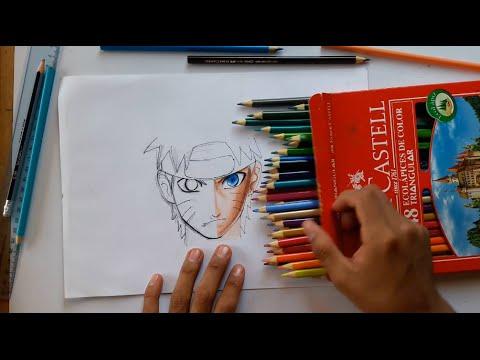 Mis materiales de dibujo técnica pintado y sombreado rápida my drawing materials