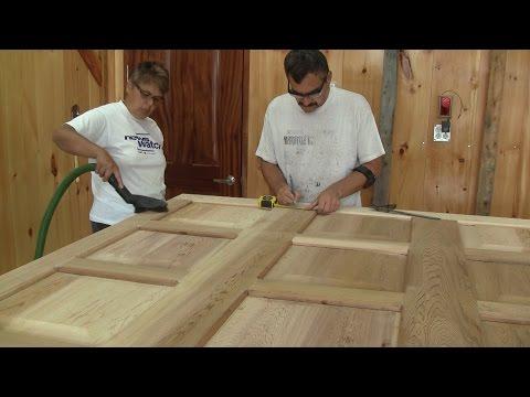 L'gosseux d'bois Ep 92 - Construction de mon atelier partie 20 -  La porte de garage