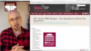 MIT Sloan School of Management MBA essay analysis and tips