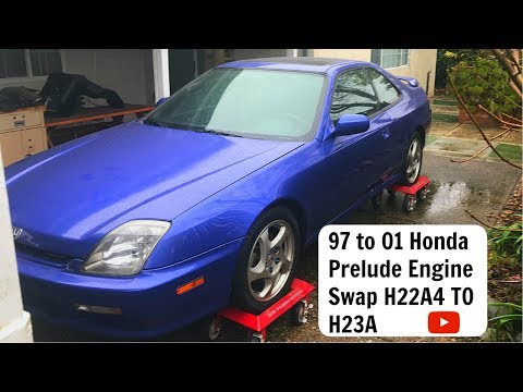 97 to 01 Honda Prelude Engine Swap. H22A4 to H23A. JDM