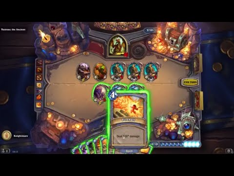 How to win Hearthstone Kobolds & Catacombs Mage Dungeon - Vustrasz the Ancient Final Boss defeated