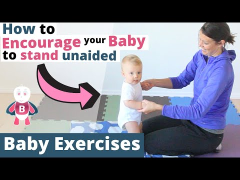 How to Teach Baby to Stand up - Baby Exercises #9-12+ Months - Baby Activities, Baby Development