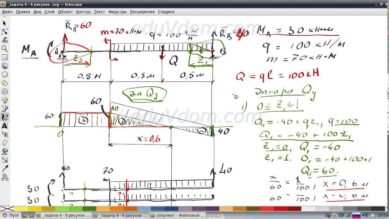 Решение задач с эпюрами по сопромату а п рымкевич ответы к решениям задач