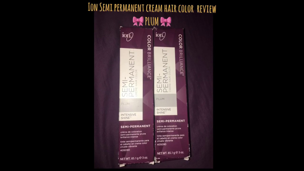 Ion Semi Permanent Hair Color In Plum Youtube