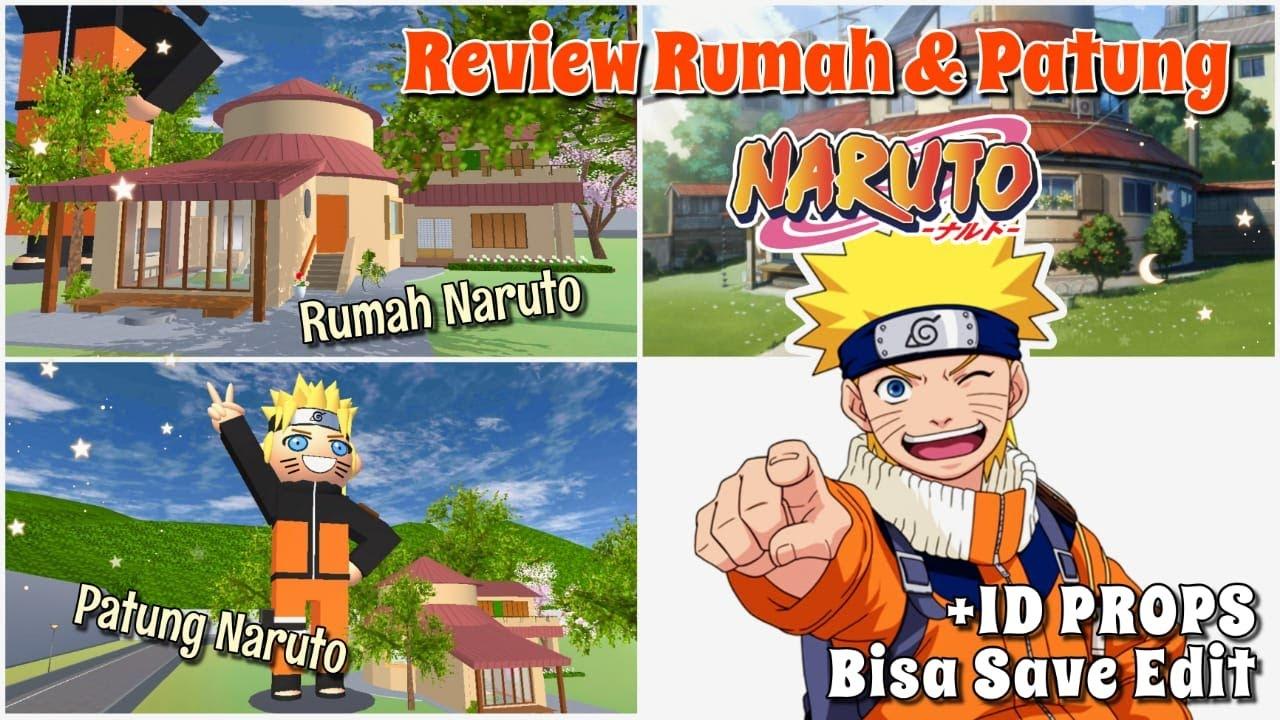 Review Rumah & Patung UZUMAKI NARUTO + ID Bisa Save Edit   SAKURA SCHOOL SIMULATOR