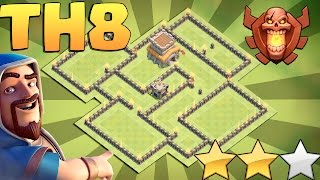 New TH8 War Base New Update TH8 War Base Anti 3 Star TH8 War Base 2017 Clash Of Clans COC
