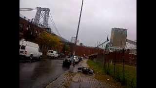 Walking down to water during Hurricane Sandy in Brooklyn Thumbnail