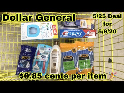 Dollar General 5/25 Deals For 5/9/20 | All Digital 🥰 $6.80 For 8 Items 🎉