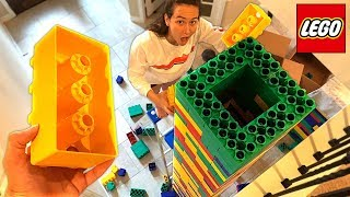 WORLDS TALLEST LEGO TOWER! (99 FT) (With Unspeakable & MooseCraft)