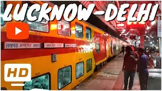 LUCKNOW To DELHI (ANVT) || Double Decker Express || High-Speed Journey Highlights
