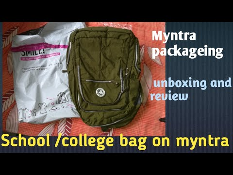 1a37112f9492 Bag on myntra review and return policy step by step hindi - YouTube
