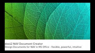 dox42 NAV Document Creator - Create documents and reports for Dynamics NAV in MS Office