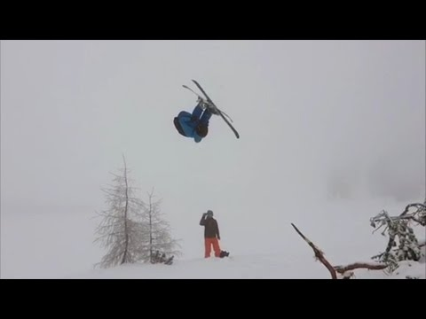 My first frontflip on skis