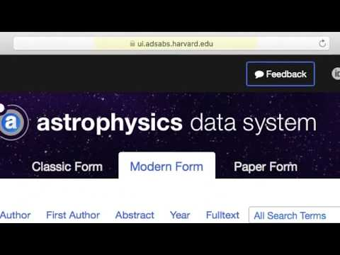 Astrophysics Data System Tutorial