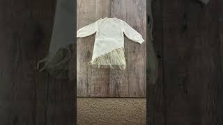 Стильное вязаное платье с фатином