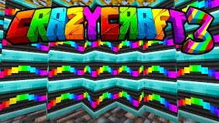 "Minecraft CRAZY CRAFT 3 ""RAINBOW HOUSE!"" #10 (Carpenter Blocks Mod) - SMP"