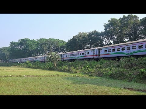Furious Rupsha Express Train hauled by BR ALCO 6522 WDM 3A of Bangladesh Railway