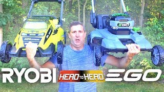EGO VS RYOBI - Best Cordless Battery Powered Lawn Mower Review