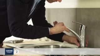 Instalace pákové kuchyňské dřezové baterie