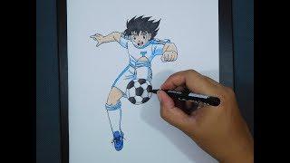 How To Draw Captain Tsubasa / Cara Menggambar Kapten tsubasa
