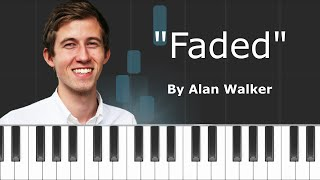 """Download Alan Walker - """"Faded"""" Piano Tutorial - Chords - How To Play - Cover Mp3"""