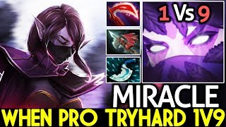 Miracle- [Templar Assassin] When Pro TryHard 1v9 Solo Mid Gameplay 7.21 Dota 2