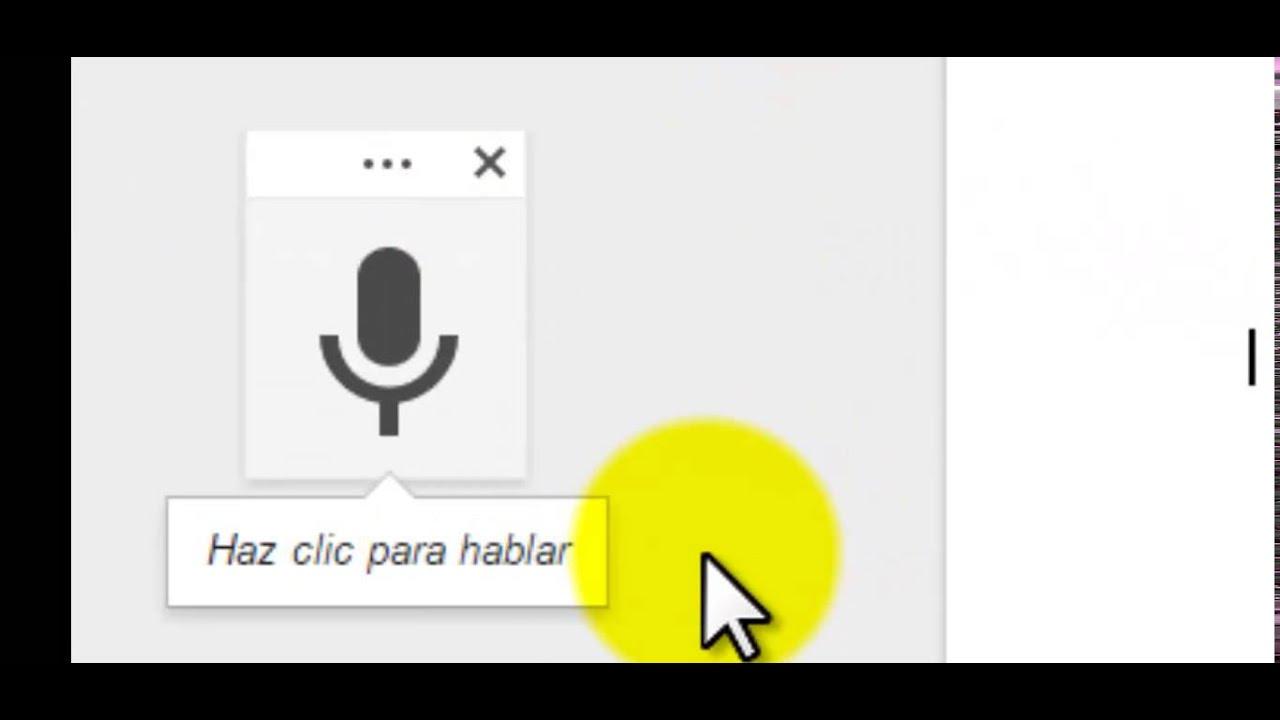 ESCRITURA POR VOZ GOOGLE DOCS - GOOGLE DRIVE - YouTube