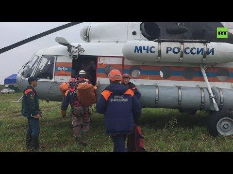 Вертолёты МЧС перевезли эвакуированных жителей Тулунского района в город Тулун