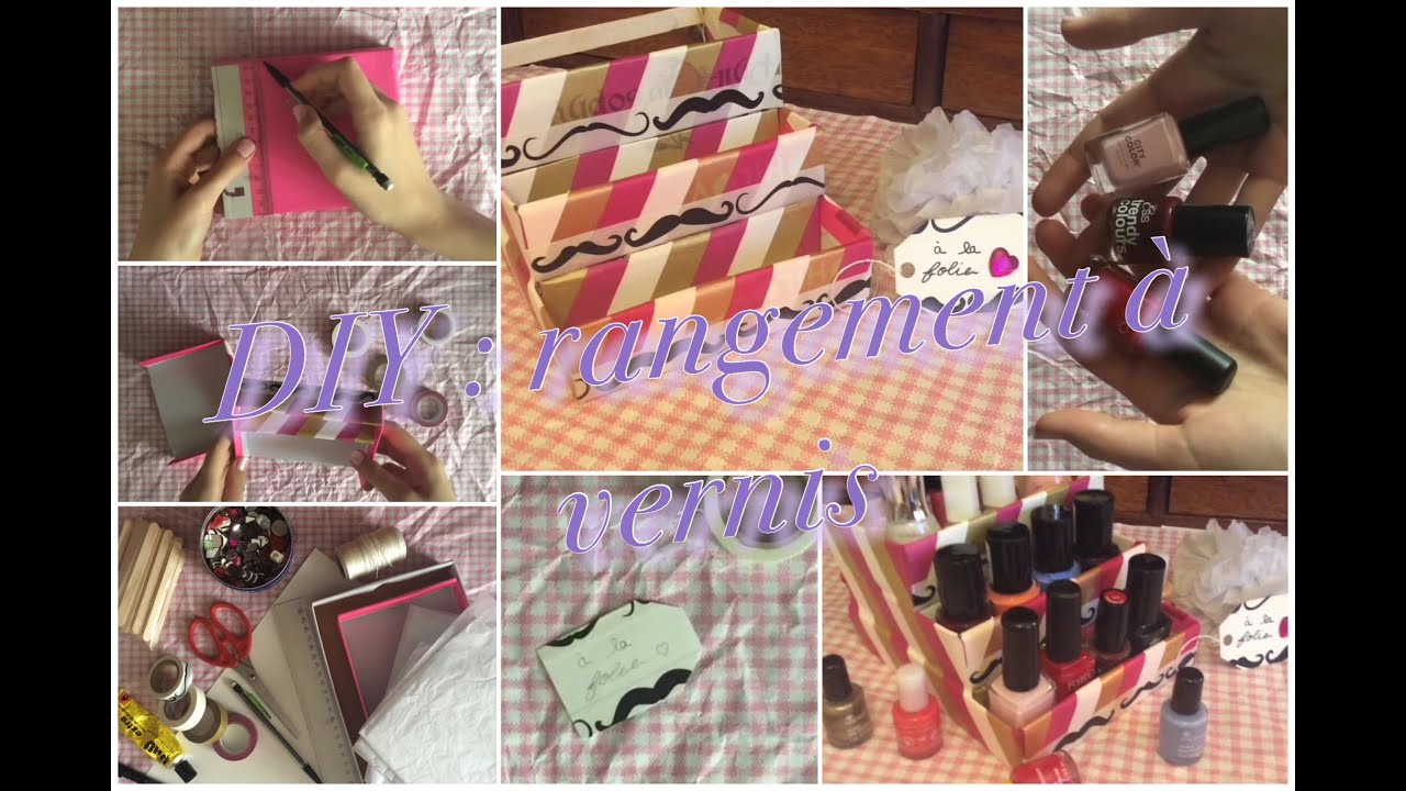 ongles diy rangement de vernis l ane youtube. Black Bedroom Furniture Sets. Home Design Ideas