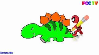 💗Dibuja y Colorea Dinosaurio de Arco Iris 🏆Dibujos Para Niños 🍀Coloring Pages / FCC TV