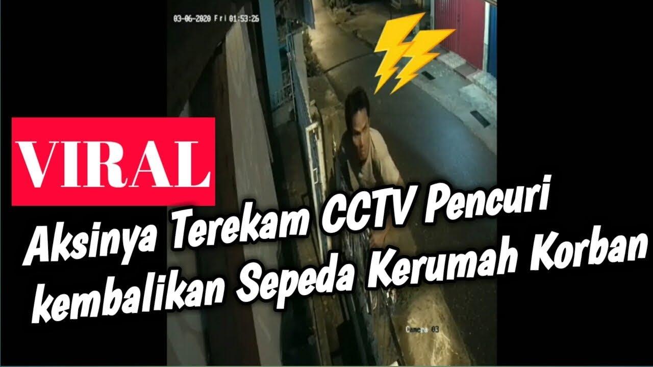 VIRAL.... Pencuri Sepeda terekam CCTV   di kota jambi