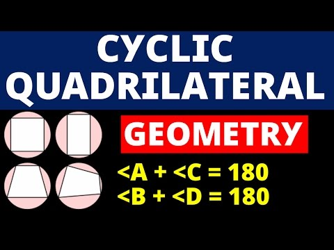 Circle - 5 Cyclic Quadrilateral Geometry (Complete Concept )