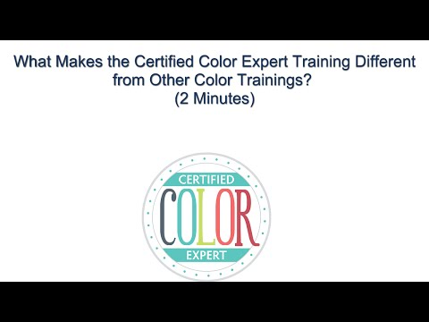 Certified Color Expert Training - What Makes this Color Certification Class Different?