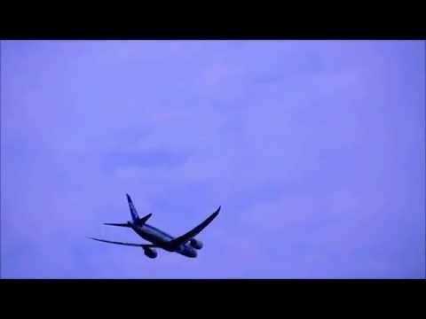 【okayama airport】 ANA Boeing 787-8 Dreamliner Take off