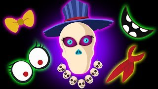 The Funny Missing Face - Solve The Skeleton Face Puzzles Midnight Magic Finger Family So ...