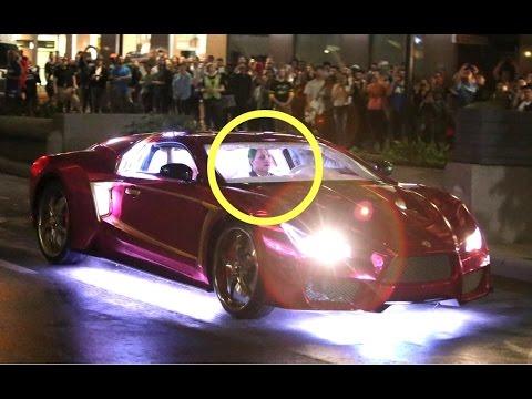 Suicide Squad Footage Car Scene The Batmobile Last Night Chasing