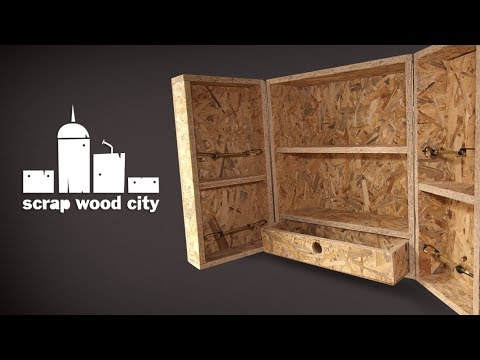 DIY OSB hanging cabinet  quick and dirty   YouTube
