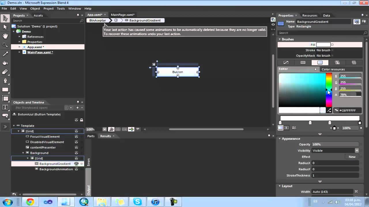 Creando Templates en Expression Blend - YouTube